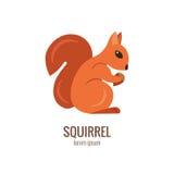 De eekhoornembleem van het Colorfubeeldverhaal Royalty-vrije Stock Afbeelding