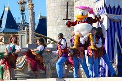 De eend en de vrienden van Donald in Disneyworld Royalty-vrije Stock Fotografie