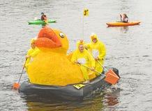 De Eend van Lifescan me team op de rivier Ness. Royalty-vrije Stock Foto