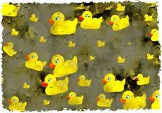 De eenden van Grunge Royalty-vrije Stock Afbeeldingen