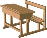 De eenheid van het bureau en van de stoel Stock Illustratie
