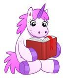 De eenhoorn leest boek Stock Foto's