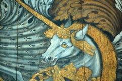 De Eenhoorn van het wapenschild Royalty-vrije Stock Afbeeldingen
