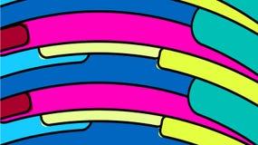 De eenvoudige achtergrond van minimalistic kleurrijke kleurrijke geometrische cijfers, ovalen met rond gemaakte hoeken schikte in royalty-vrije illustratie