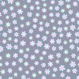 De eenvoudige blauwe achtergrond van het pastelkleur bloemenpatroon royalty-vrije illustratie
