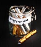 De eenvoudige Gelukkige Decoratie van het Nieuwjaarconcept Royalty-vrije Stock Fotografie