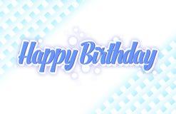 De eenvoudige kaart van de verjaardagsgroet in een blauwe kleur stock illustratie