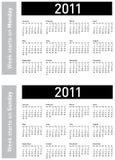 De eenvoudige Kalender van 2011 Royalty-vrije Stock Afbeelding