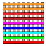 De eenvoudige kleurrijke bouw met vensters vector illustratie