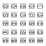 De eenvoudige Knopen van Internet van de Software van het Web Stock Fotografie