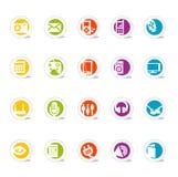 De eenvoudige Media van de Pictogrammen van het Web (Vector Royalty-vrije Stock Foto's