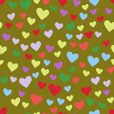 De eenvoudige mooie kleur van het hart scherpe vector naadloze patroon viert helder de vakantie abstract art. van het emoticonsym vector illustratie