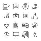 De eenvoudige reeks van beheer bracht overzichtspictogrammen met elkaar in verband Royalty-vrije Stock Afbeelding