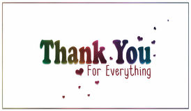 De eenvoudige Regenboog dankt u voor alles Kaart Stock Foto's