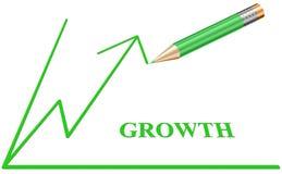 De eenvoudige Schets van de Grafiek van de Groei stock illustratie