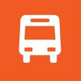 De eenvoudige vectorillustratie van het buspictogram Stock Foto