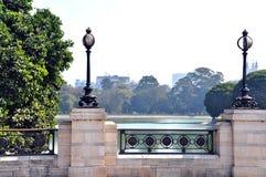 De Eenzame Stoep dichtbij Victoria Memorial, Kolkata - West-Bengalen, India royalty-vrije stock afbeelding
