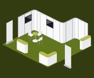 De eerlijke vectorelementen van de tentoonstellings lege tribune gebogen cabine Stock Foto's