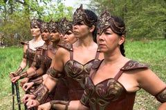 De Eerlijke Vrouwelijke Strijders van de fantasie Royalty-vrije Stock Afbeelding