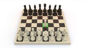 De eerste beweging van het schaak Stock Foto