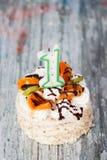 De eerste Cake van de Verjaardag Royalty-vrije Stock Foto