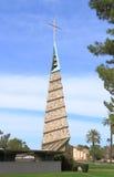 Frank Lloyd Wright: Kerk in Phoenix/klok-toren Royalty-vrije Stock Foto