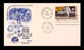 De eerste dagkwestie die Apollo 11 viert Stock Foto