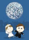 De eerste dans van de huwelijkspartij stock illustratie