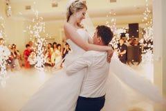 De Eerste Dans van het huwelijk stock afbeelding