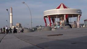 De Eerste Hebreeuwse Carrousel in Tel. Aviv Port, Israël stock video