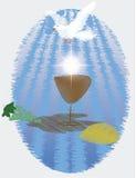De Eerste Heilige Communie, of Eerste Heilige Communie Stock Foto