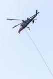 De eerste helikopter van de reactiebrand Stock Fotografie