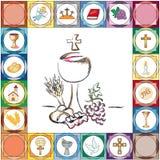 De eerste Kaart van de Heilige Communie Royalty-vrije Stock Foto