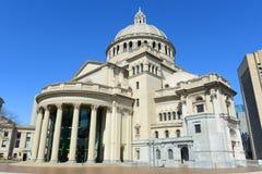 De Eerste Kerk van de Wetenschapper van Christus, Boston, de V.S. Stock Foto