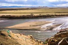 de eerste kromming van de gele rivier Stock Foto's
