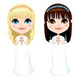De eerste Meisjes van de Heilige Communie Royalty-vrije Stock Afbeeldingen