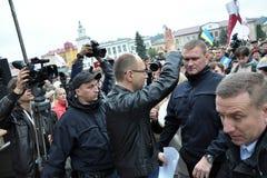 De Eerste minister van de Oekraïne Arseniy Yatsenyuk _4 Stock Foto's