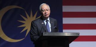 De Eerste minister van Maleisië, Najib Razak royalty-vrije stock foto's