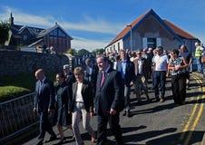 De eerste minister van Nicola Sturgeon van Schotland stock foto
