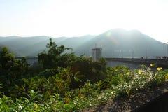De eerste multifunctionele dam genoemde Bhumibol van Thailand stock fotografie