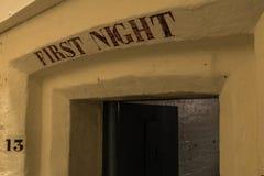De eerste nachtcel in de gevangenis van HMP Shrewsbury Dana Stock Afbeeldingen