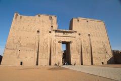 De eerste pyloon bij Tempel Edfu Stock Afbeelding