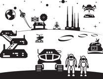 De eerste regeling op Mars vector illustratie