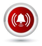 De eerste rode ronde knoop van het alarmpictogram Royalty-vrije Stock Fotografie