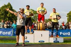 De eerste ronde van de strongman Kop van de Oekraïne vond in Storoz plaats Royalty-vrije Stock Foto
