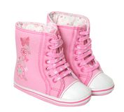 De eerste schoenen van babys Stock Afbeelding