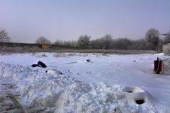 De eerste sneeuw viel Stock Foto