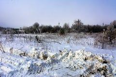 De eerste sneeuw viel Stock Afbeelding