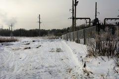 De eerste sneeuw viel Royalty-vrije Stock Fotografie