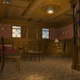 De eerste Staatsiezaal van de Klasse op een Oud Schip van de Luxe Stock Fotografie